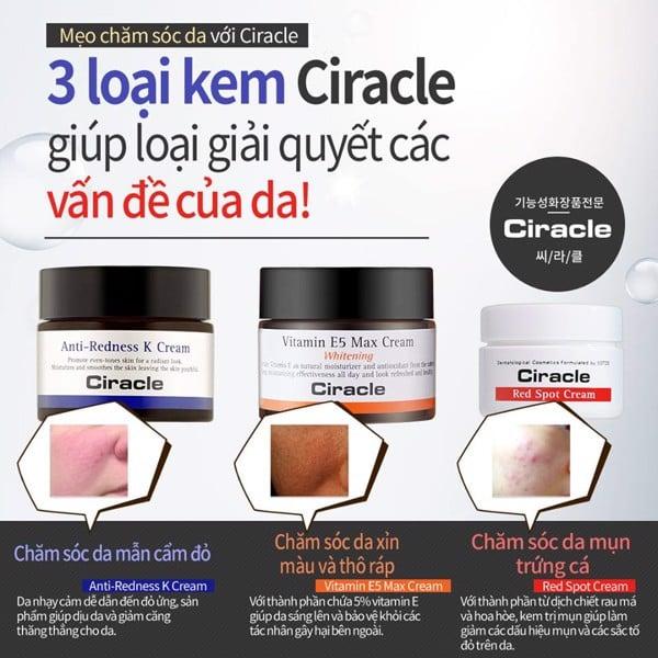 Ba sản phẩm giúp giải quyết triệt để các nhân Mụn của Ciracle.