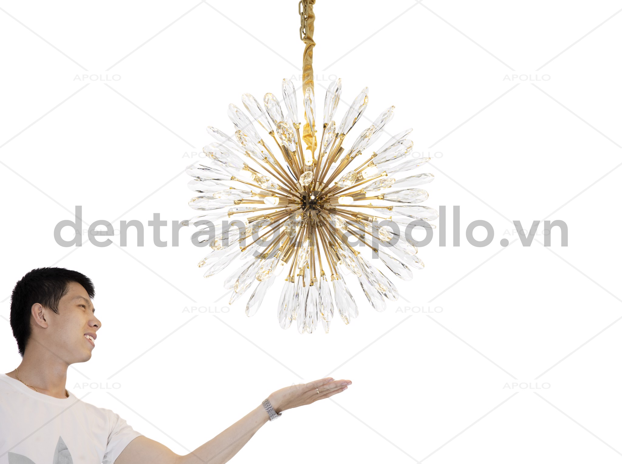 đèn chùm thả pha lê cao cấp