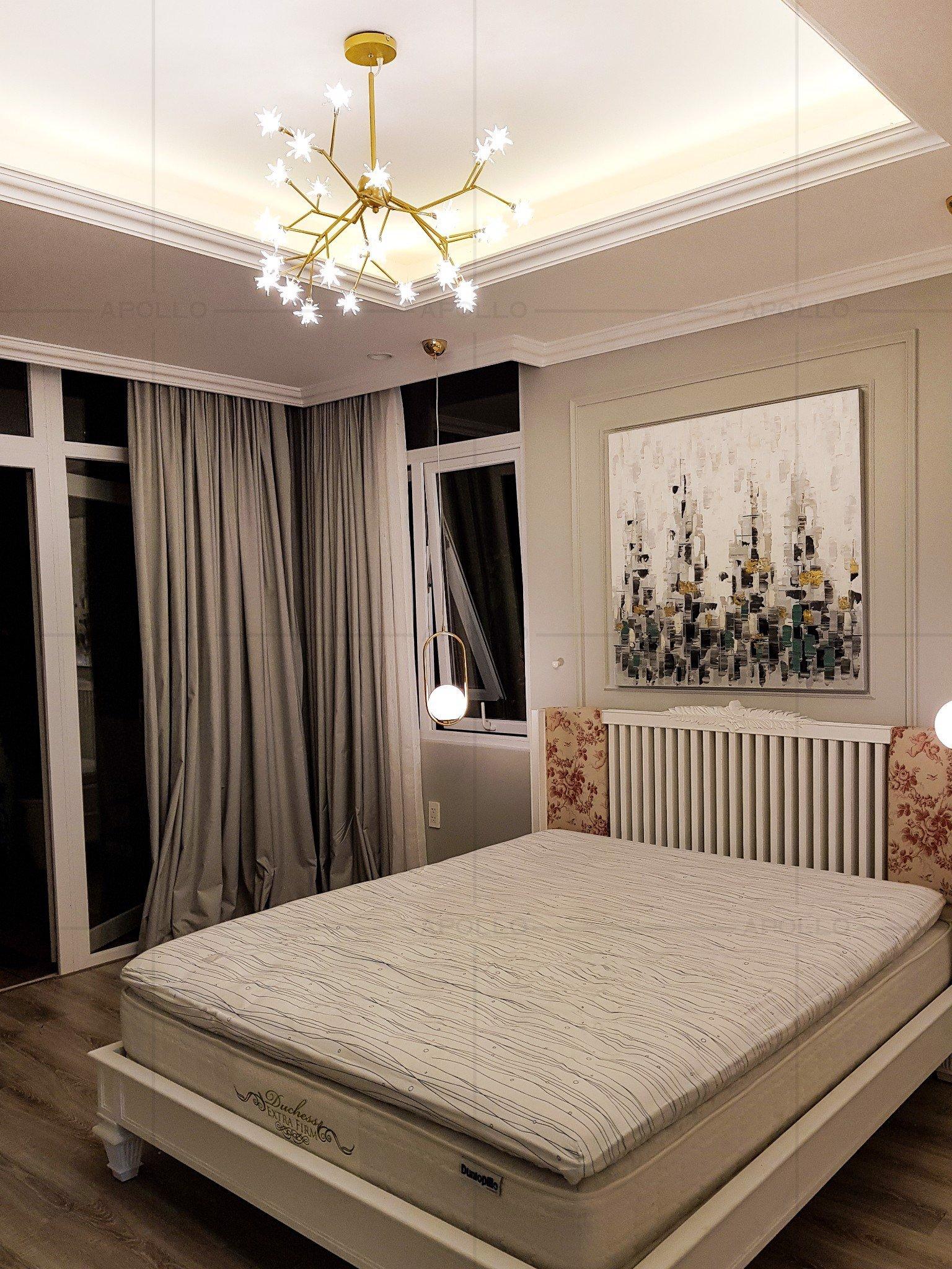 đèn chùm hiện đại trang trí phòng ngủ