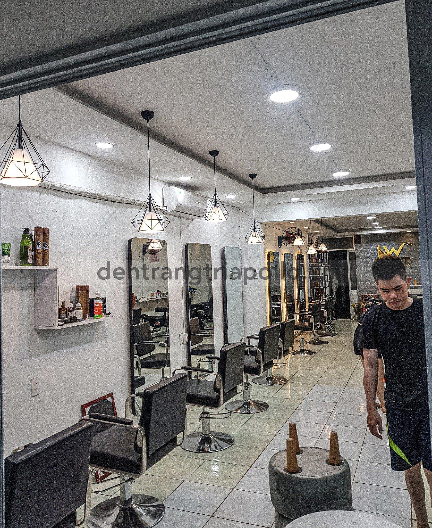 đèn thả trang trí salon tóc