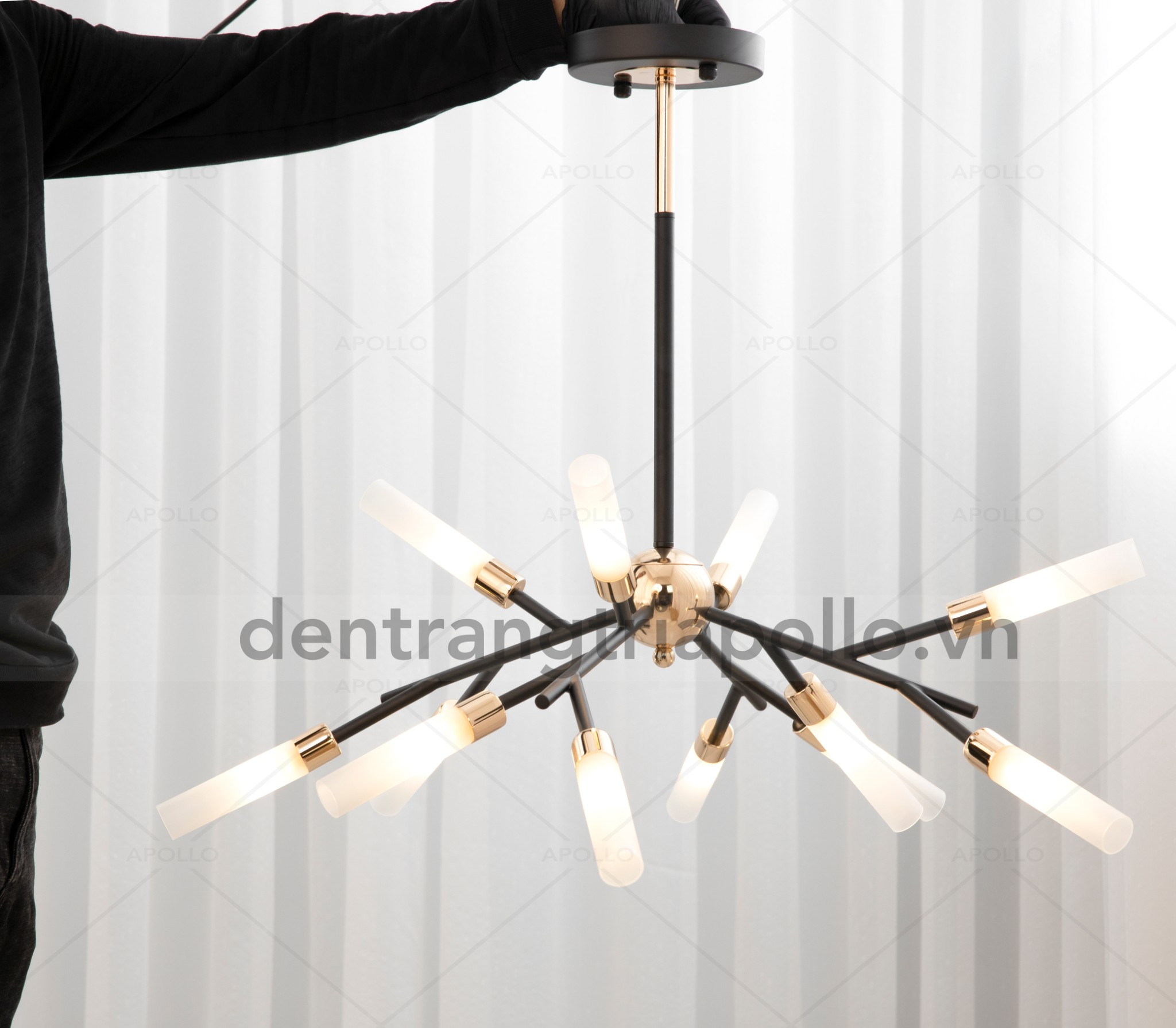 đèn chùm đốt mía