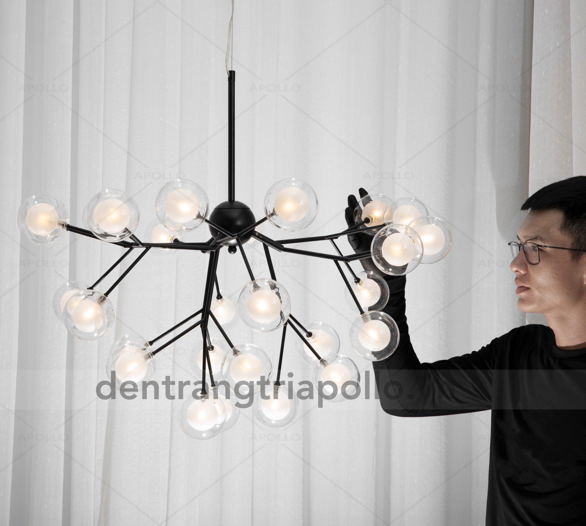 đèn chùm nho thủy tinh