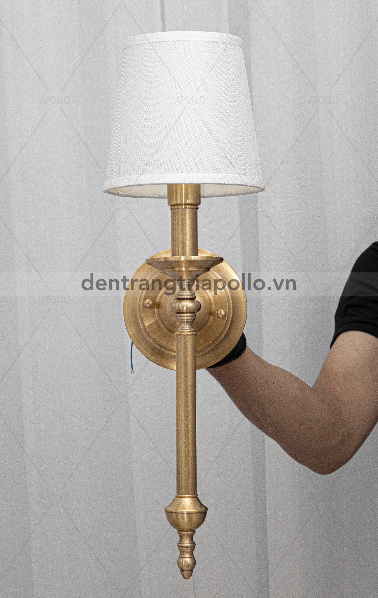 đèn tường cổ điển chụp vải