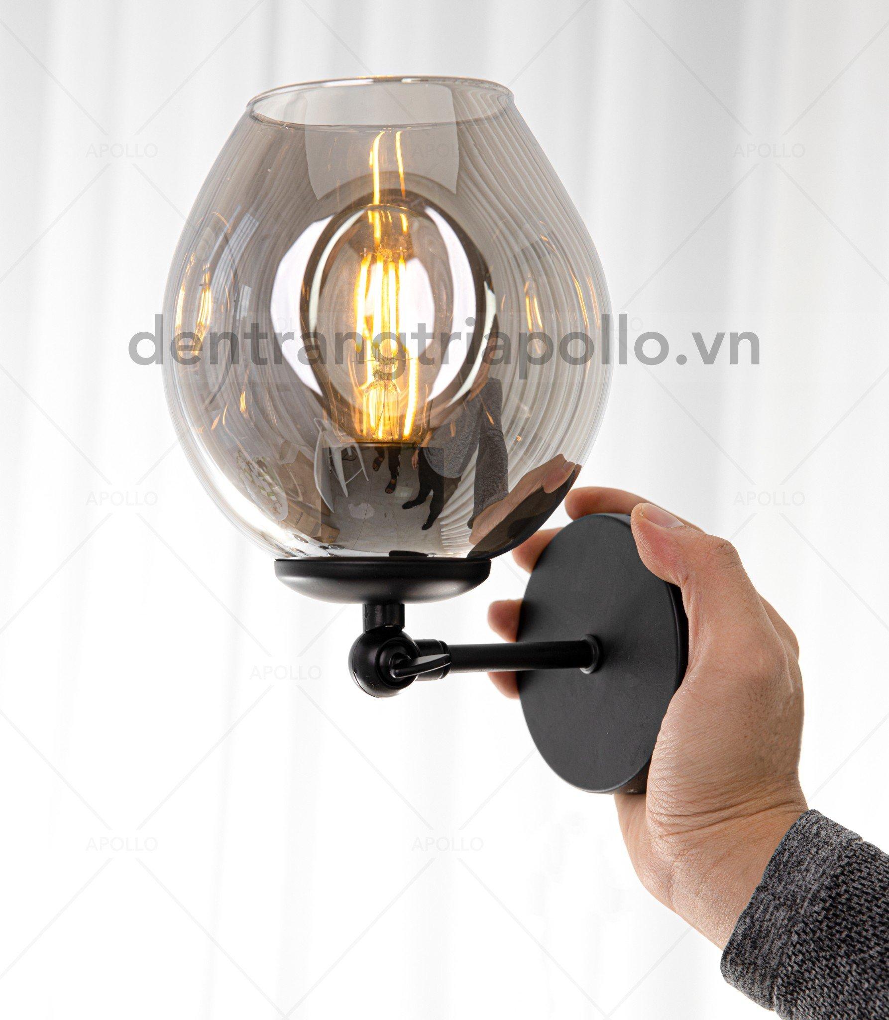 đèn tường lindsey đen