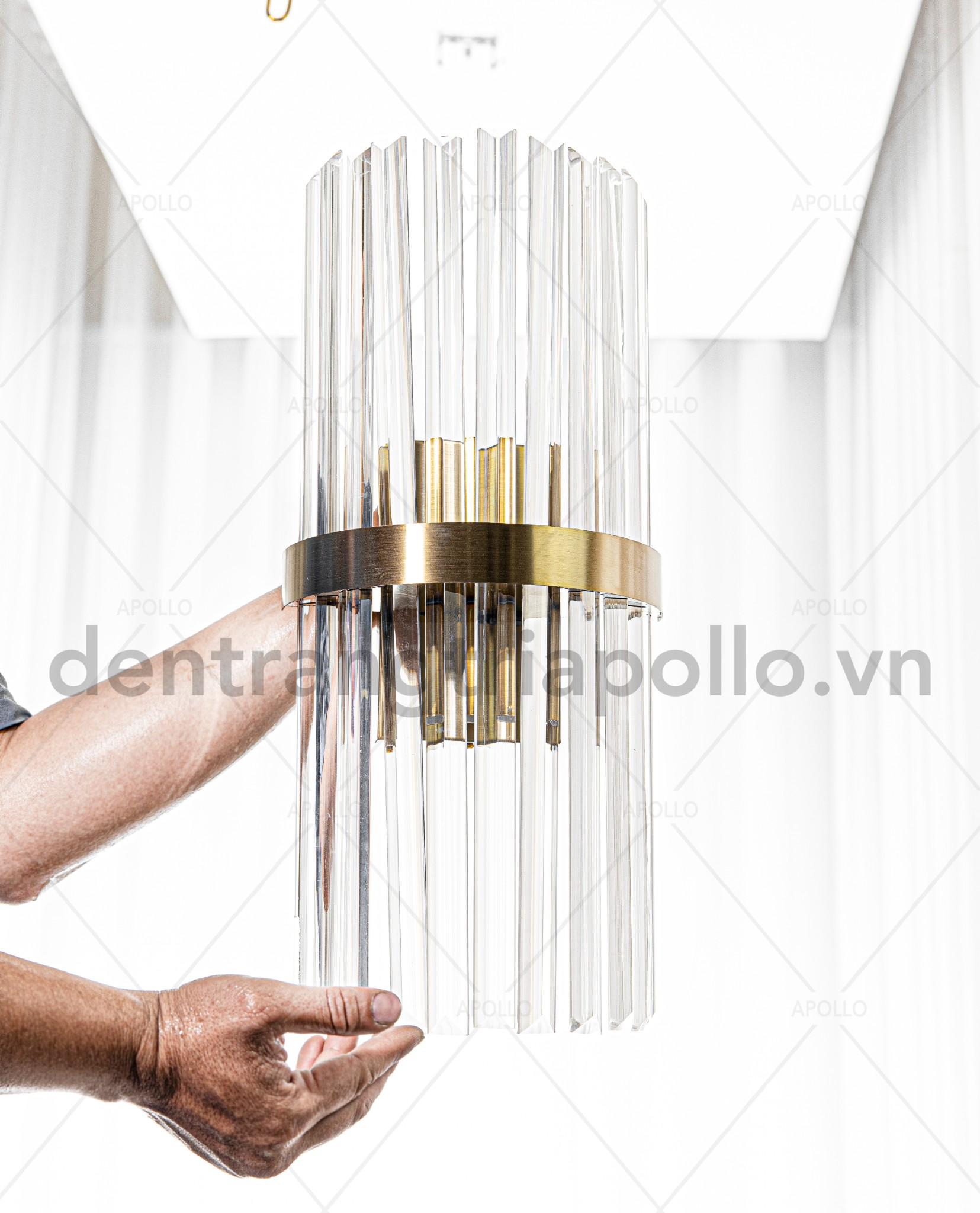 đèn tường pha lê cao cấp