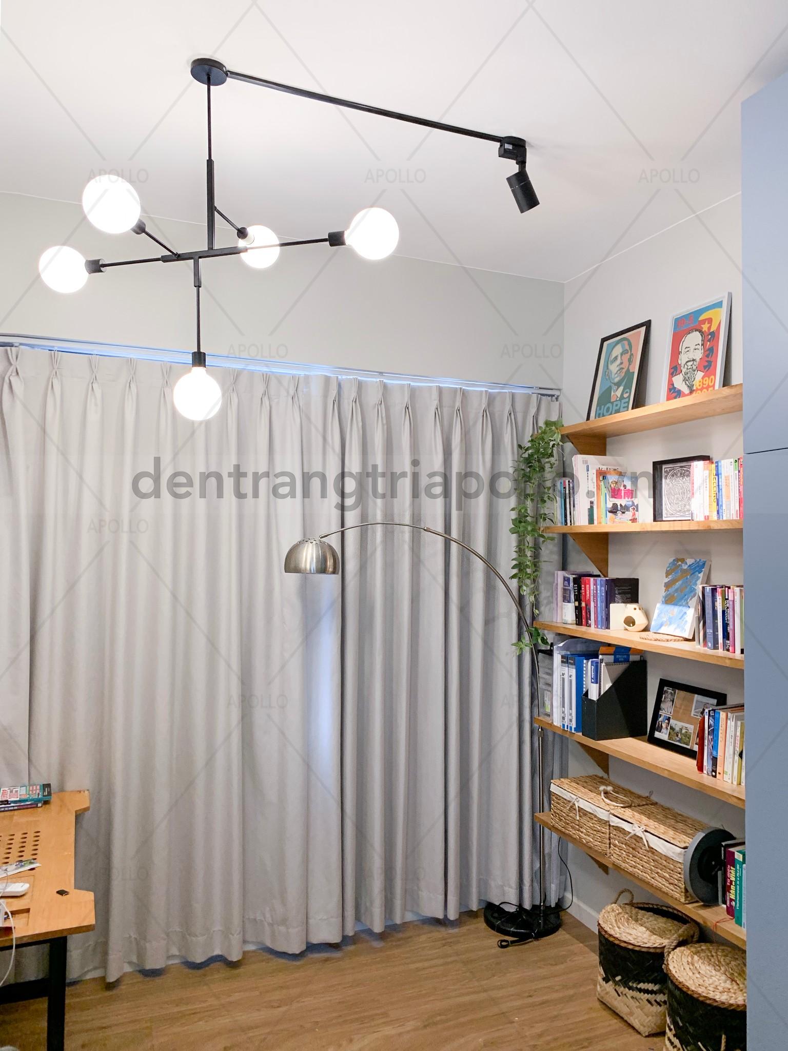 đèn chùm phòng khách căn hộ chung cư