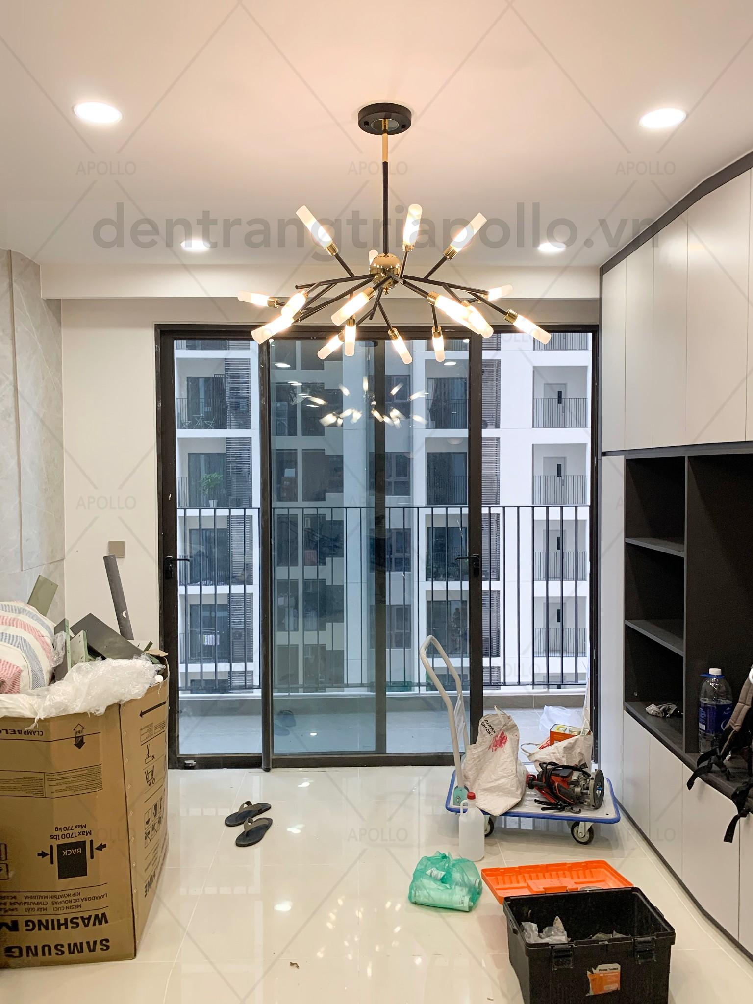 đèn chùm cho căn hộ chung cư