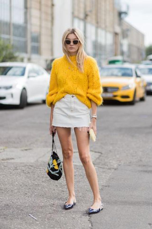 Màu vàng kết hợp màu trắng