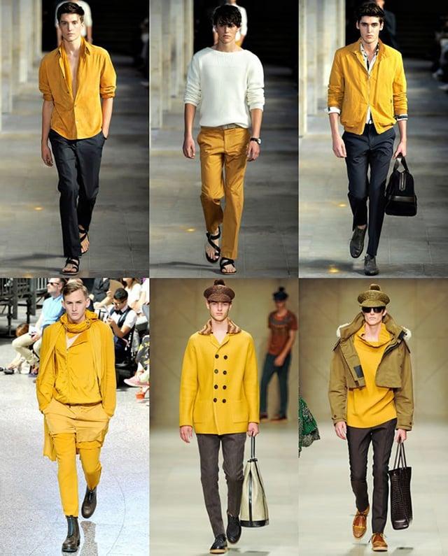 Áo màu vàng mặc quần màu gì