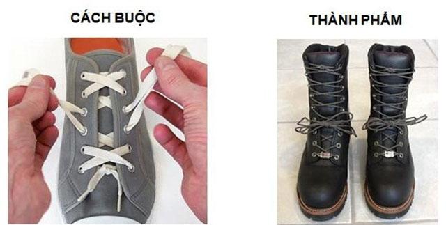 Cách thắt dây giày 6 lỗ kiểu Corset