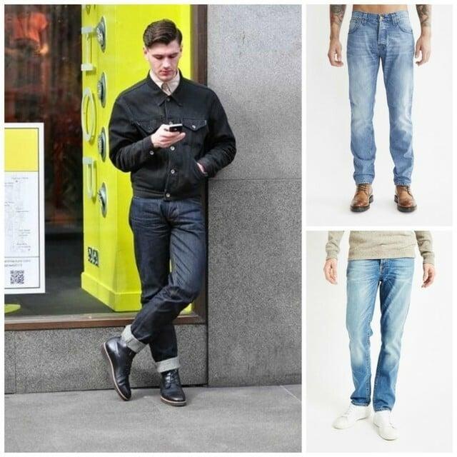 Cách xắn quần Jeans dáng suông