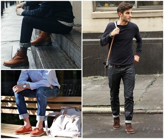 Cách xắn quần Jeans ống rộng