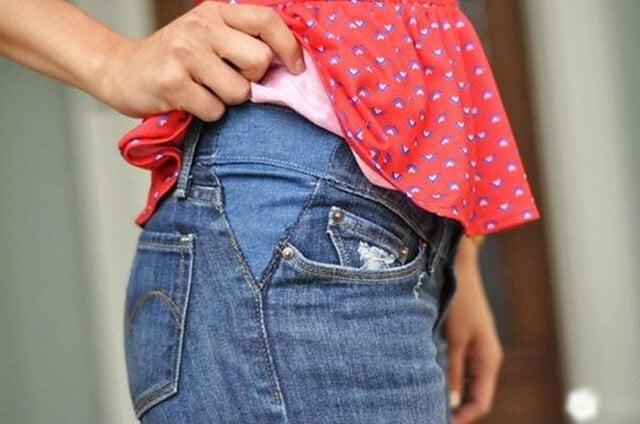 Cách làm giãn quần jean