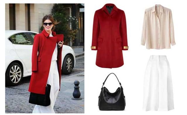 Cách kết hợp quần áo màu đỏ cho nữ 4