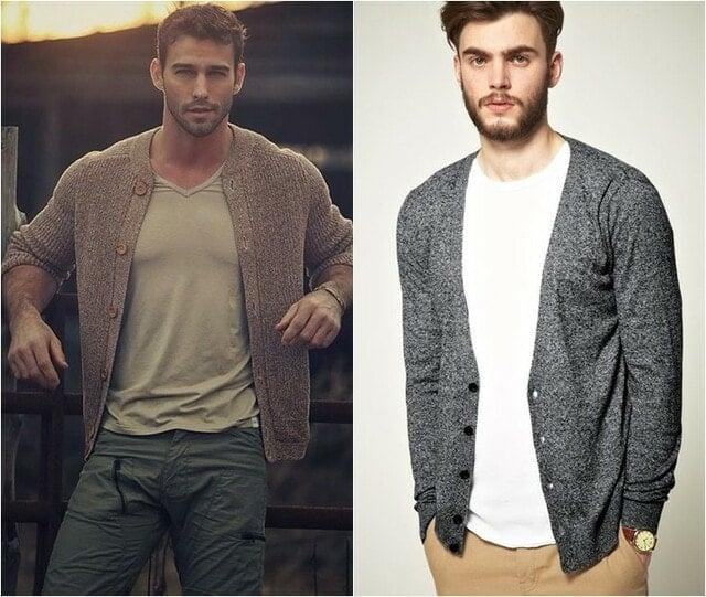 Cách phối đồ với áo len cardigan nam