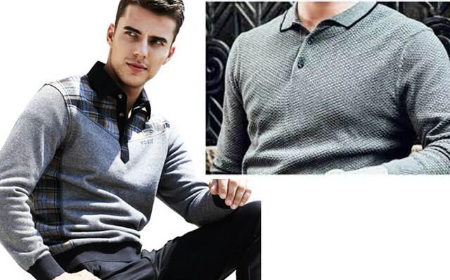 Phối áo len Polo nam tính