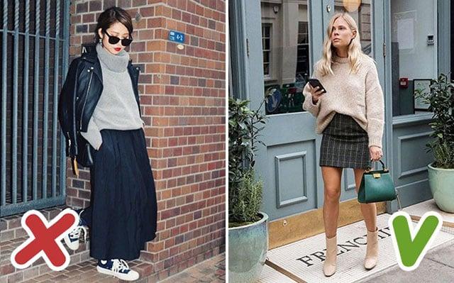 tránh xa quần áo over size nếu bạn không muốn bị dìm chiều cao