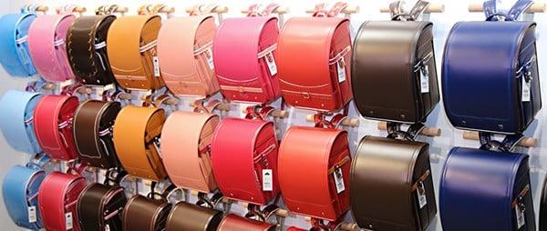 (ảnh: cặp chống gù của Nhật màu sắc thiết kế sang trọng, chống nước tốt)