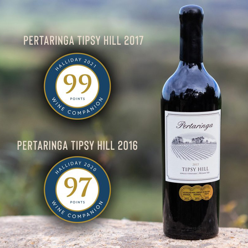 Pertaringa's 'Tipsy Hill' Cabernet Sauvignon Awarded 99 Points From James Halliday