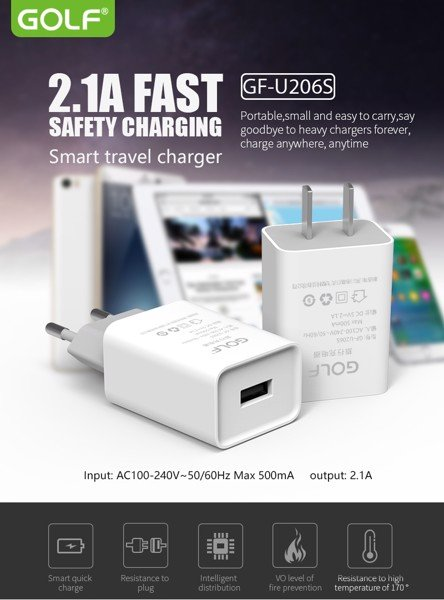 Sạc Golf GF-U206S Travel Charger