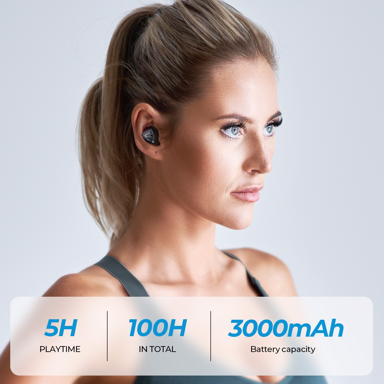 Tai nghe Soundpeats TrueShift 2 có thể nghe nhạc 5 giờ