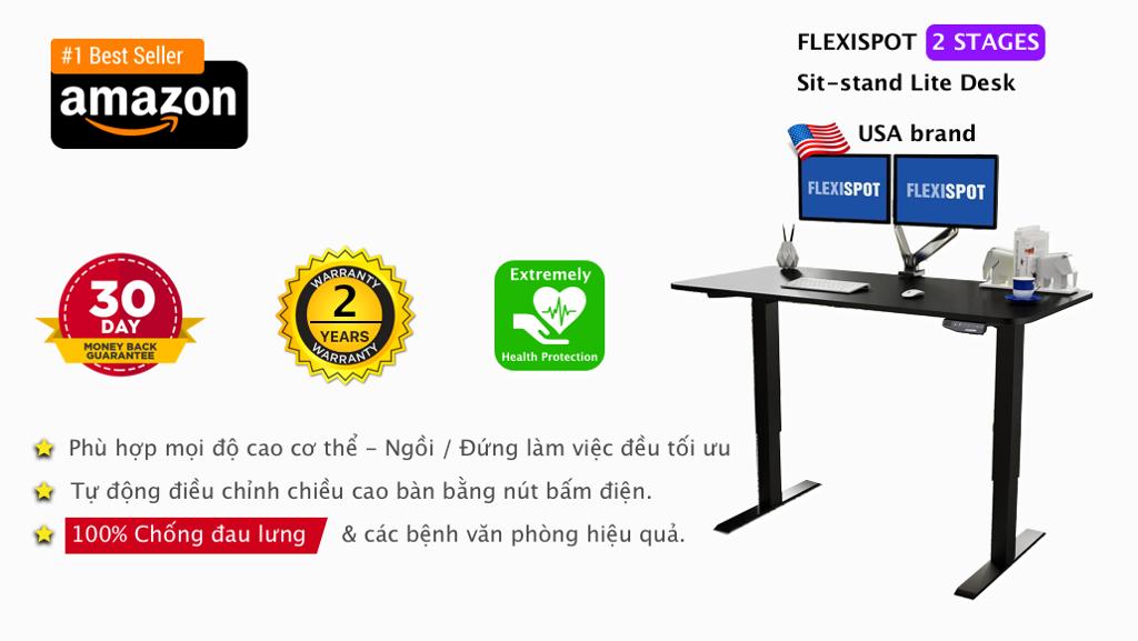 Bàn làm việc thay đổi độ cao Flexispot Lite 2 states