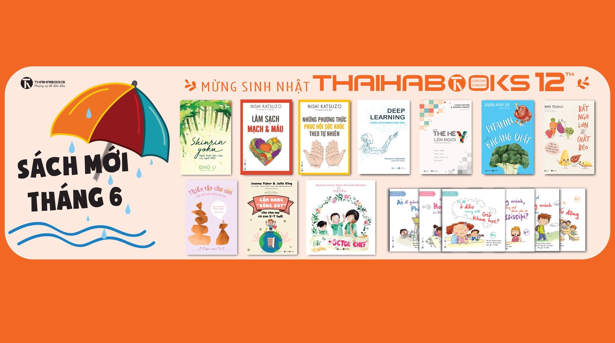 [ThaiHaBooks] Sách mới tháng 6
