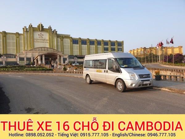 Thue xe 16 chỗ đi Campuchia Cambodia