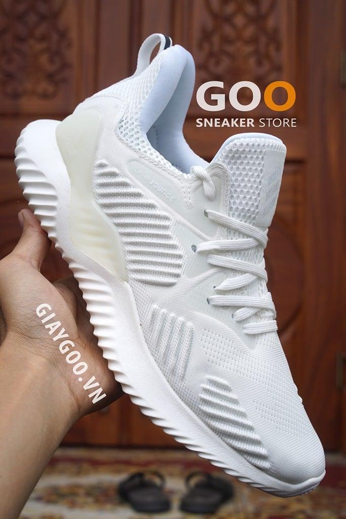 adidas alphabounce beyond trắng nam nữ 2018