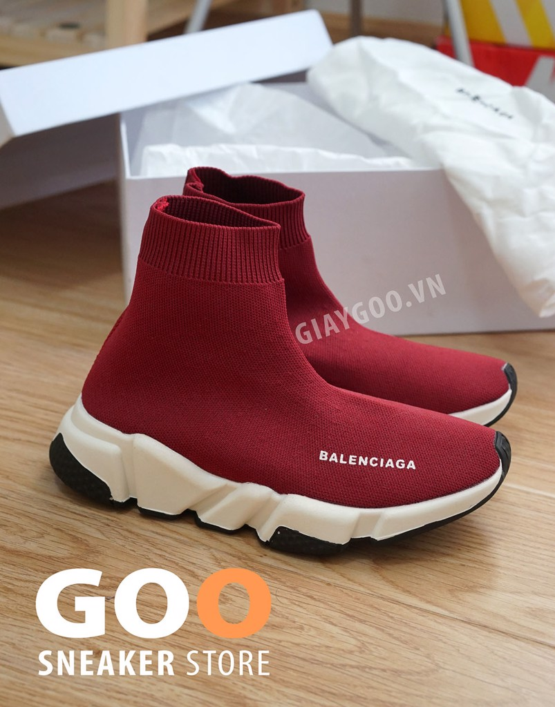 giày balenciaga speed trainer đỏ red