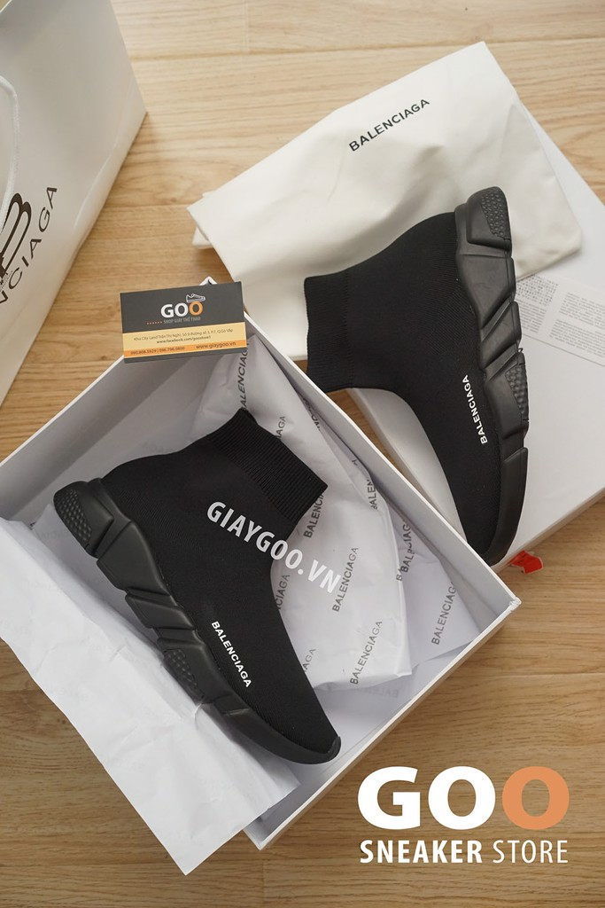 giày balenciaga speed trainer đen full black
