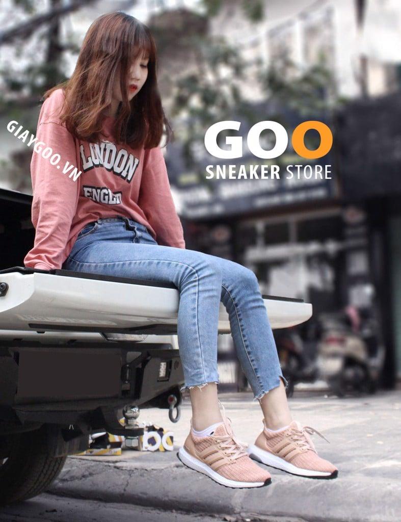giày ultra boost hồng 4.0