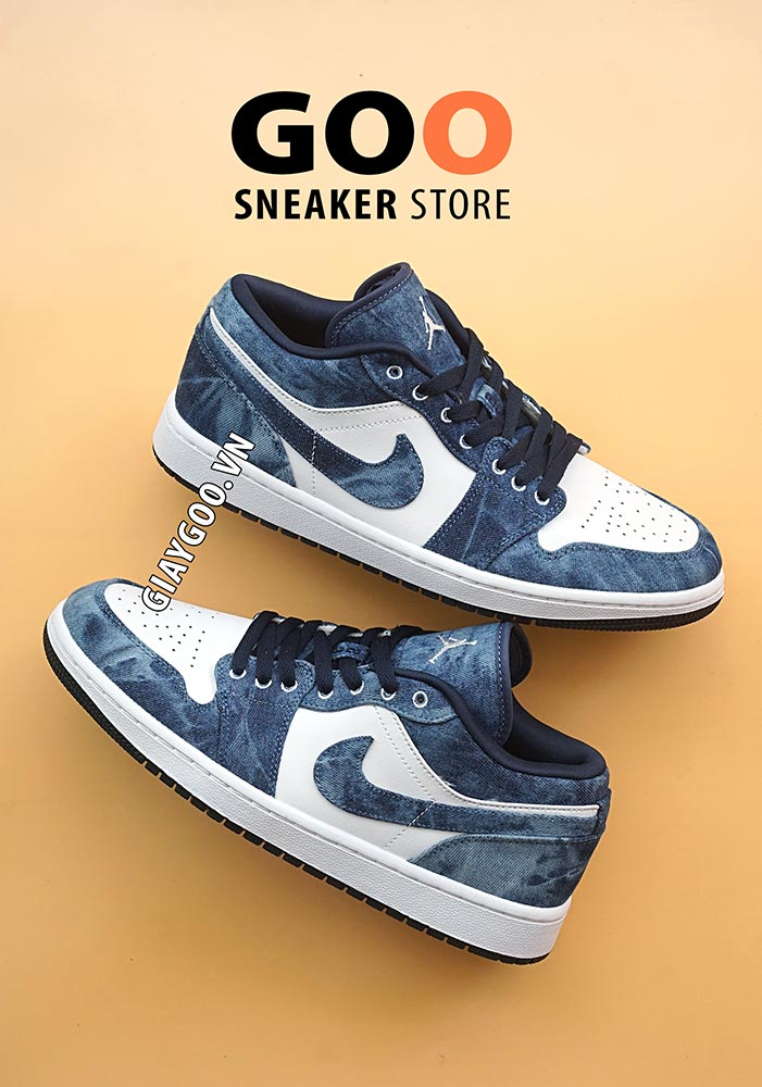 nike jordan 1 low washed denim