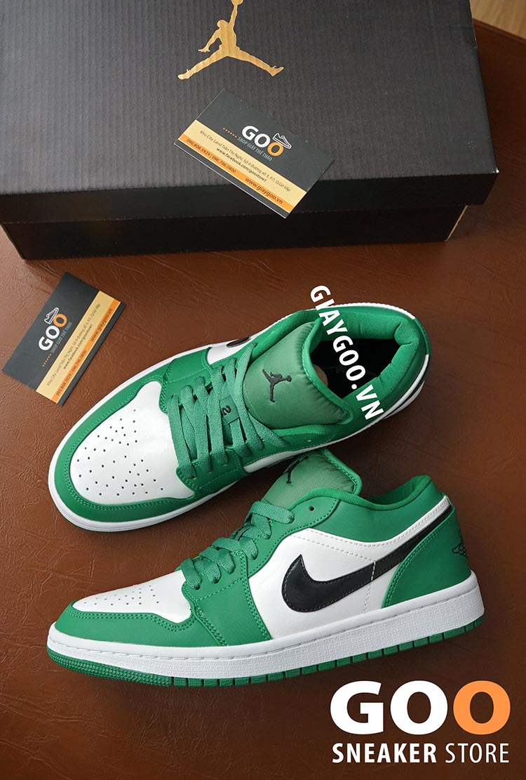 nike air jordan 1 low pine green 1:1