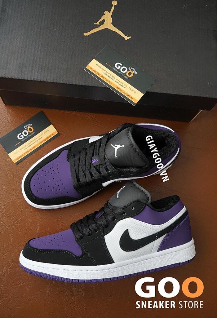 nike jordan 1 low court purple black