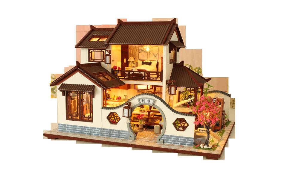 Mô Hình Nhà Gỗ Handmade Sao Trong Ánh Mắt