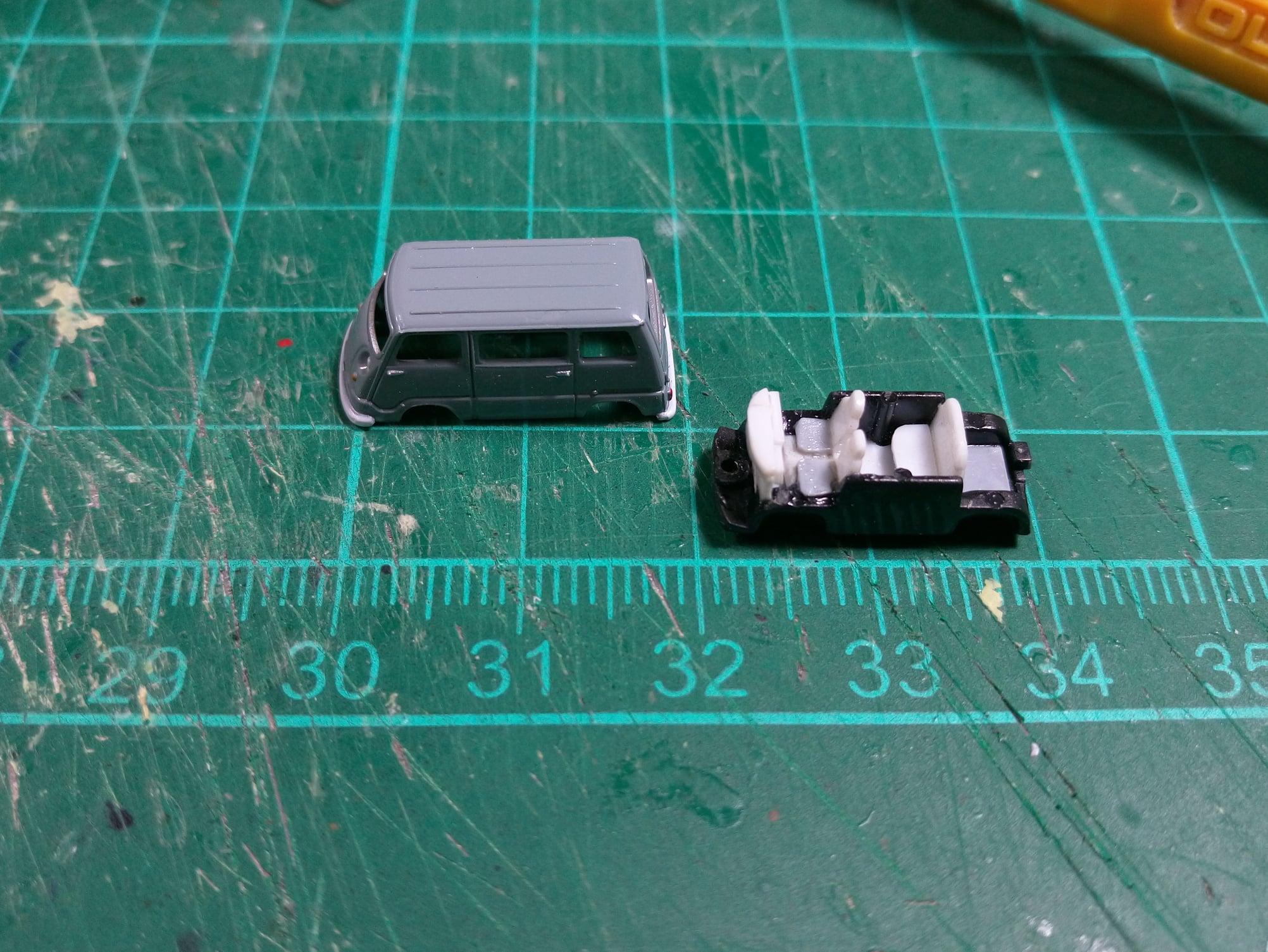 Quá trình làm 1 chiếc xe miniature tỉ lệ 1/50