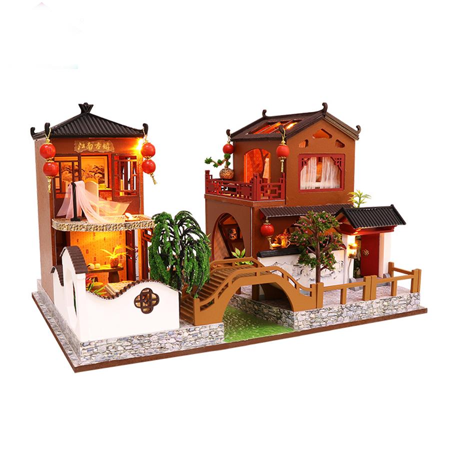 Cách Lắp Ghép Nhà Mô Hình Cổ Trang Bằng Gỗ DIY - Tháng Ngày Ước Hẹn - Mã L902