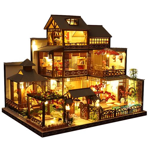 Hướng Dẫn Lắp Ráp Mô Hình Gỗ Biệt Thự Cổ Trang Nhật Bản - Dư Sinh -  Mã P006