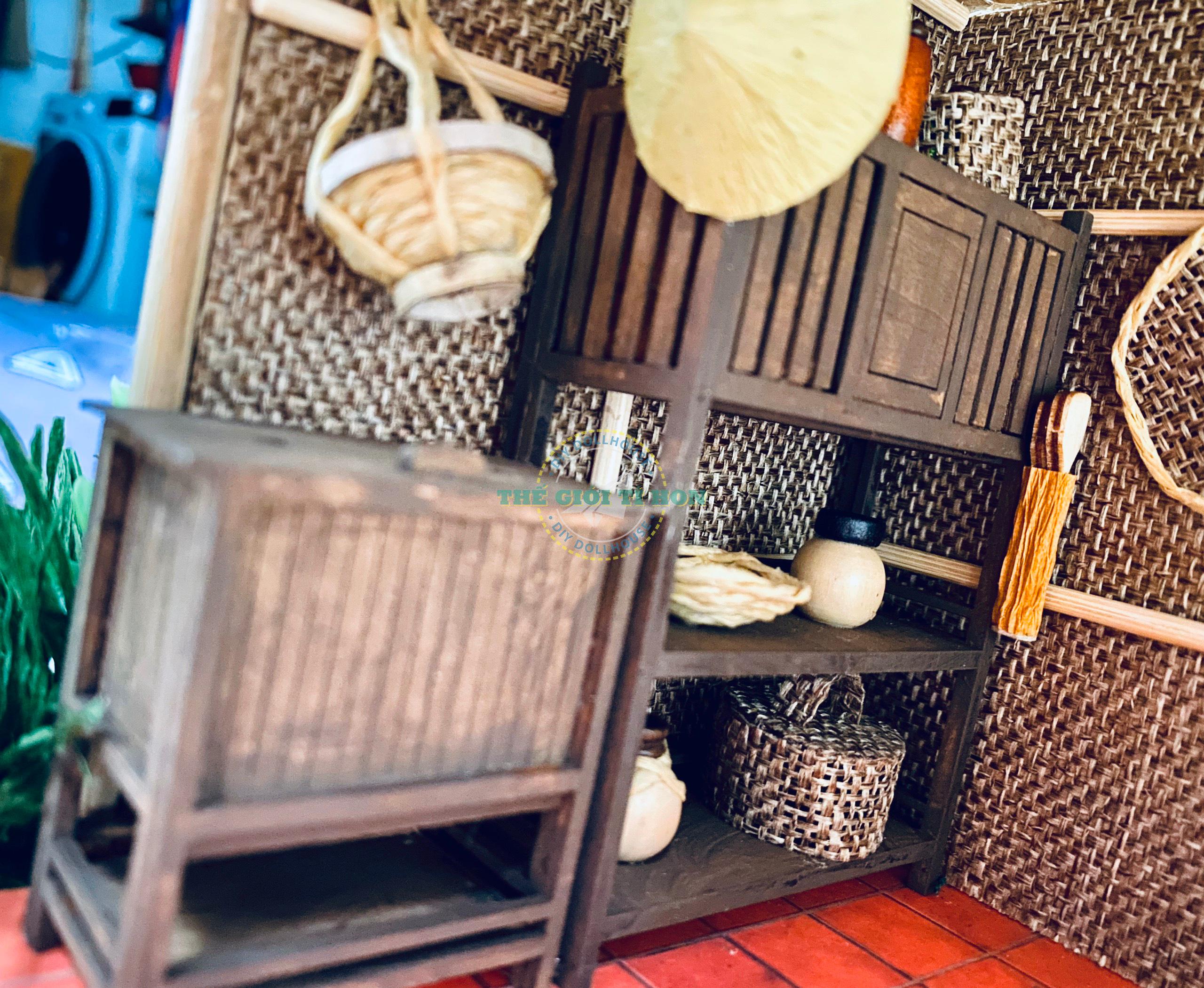 Mô Hình Handmade Gỗ Tự Lắp Ráp Bếp Quê Xưa Của Chị Tường Linh - MT01