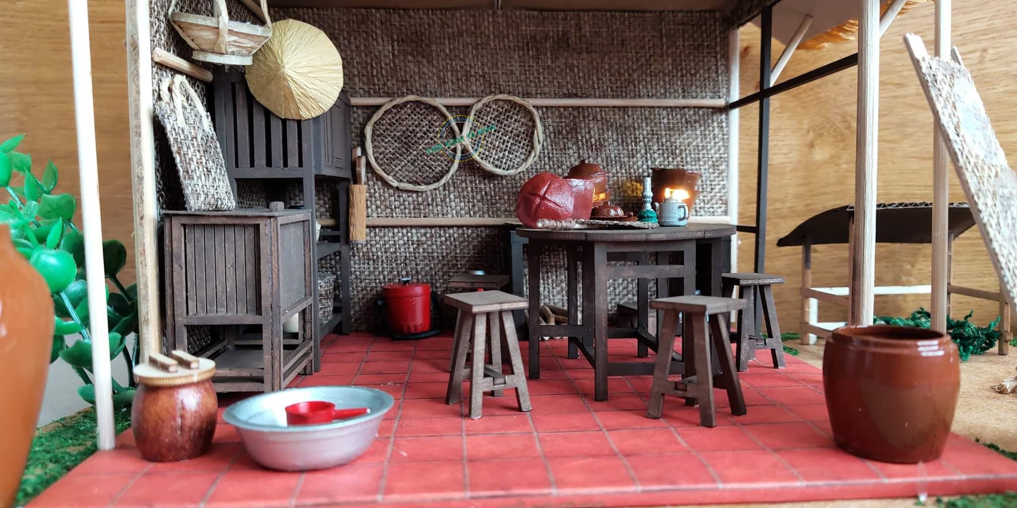 Thành Phẩm Mô Hình Bếp Miền Tây Thu Nhỏ Bằng Gỗ DIY Của Chị Nam Ngô - MT01