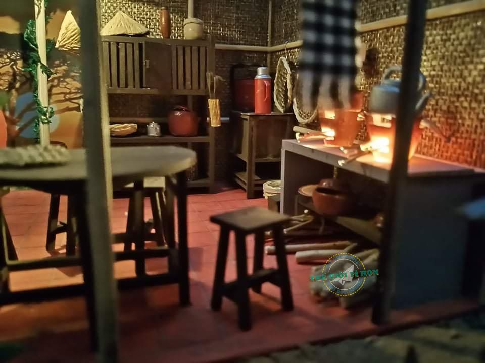 Tác Phẩm Mô Hình Bếp Quê Miền Tây Xưa DIY Bằng Gỗ Của Bạn Lê Ngọc - MT01