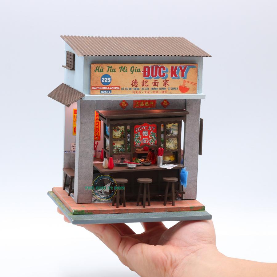mô hình nhà gỗ diy xe hủ tíu việt nam AD08