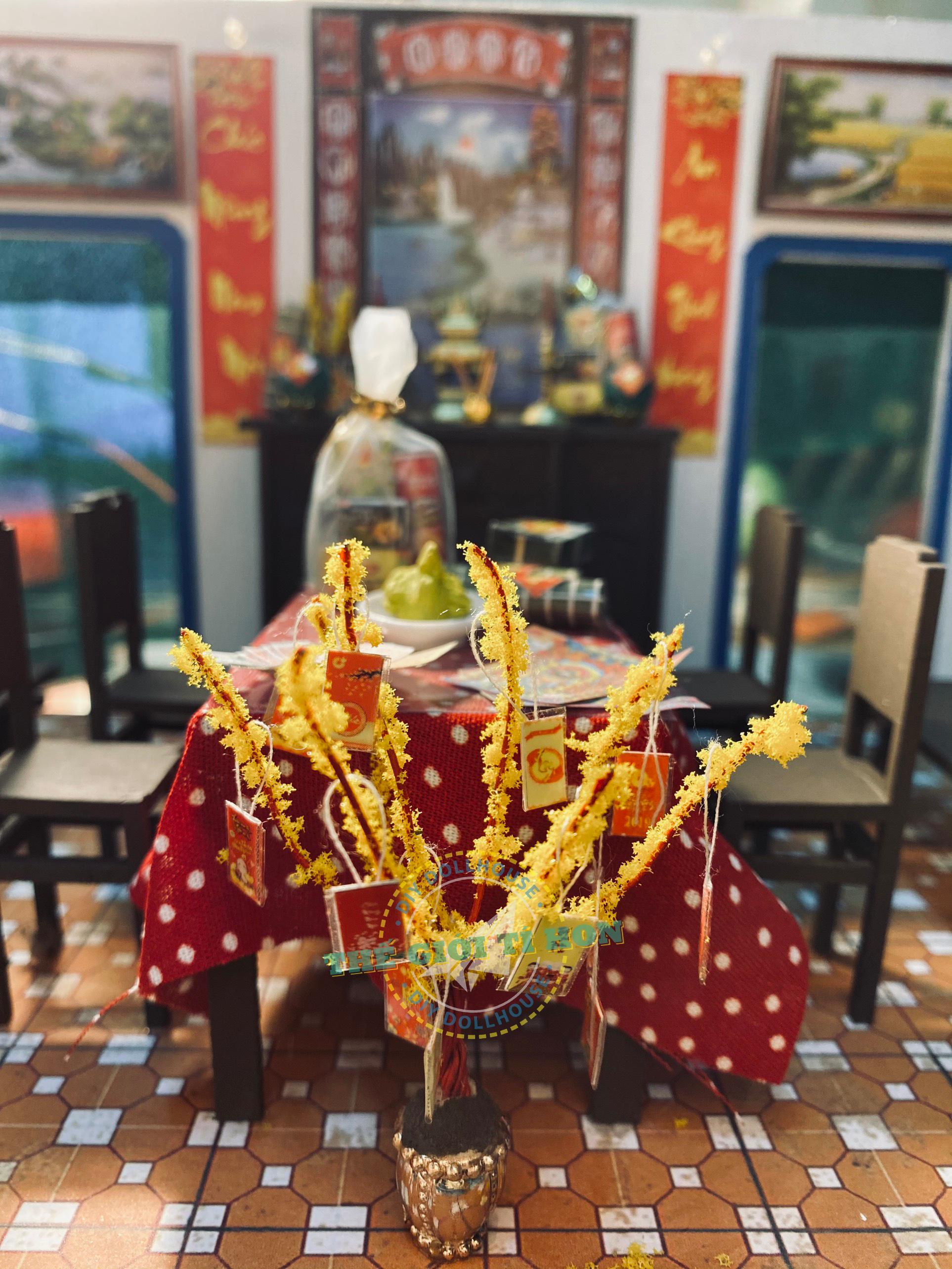 Mô Hình Tết Sum Vầy Sài Gòn Xưa Handmade Gỗ Của Bạn Lynn
