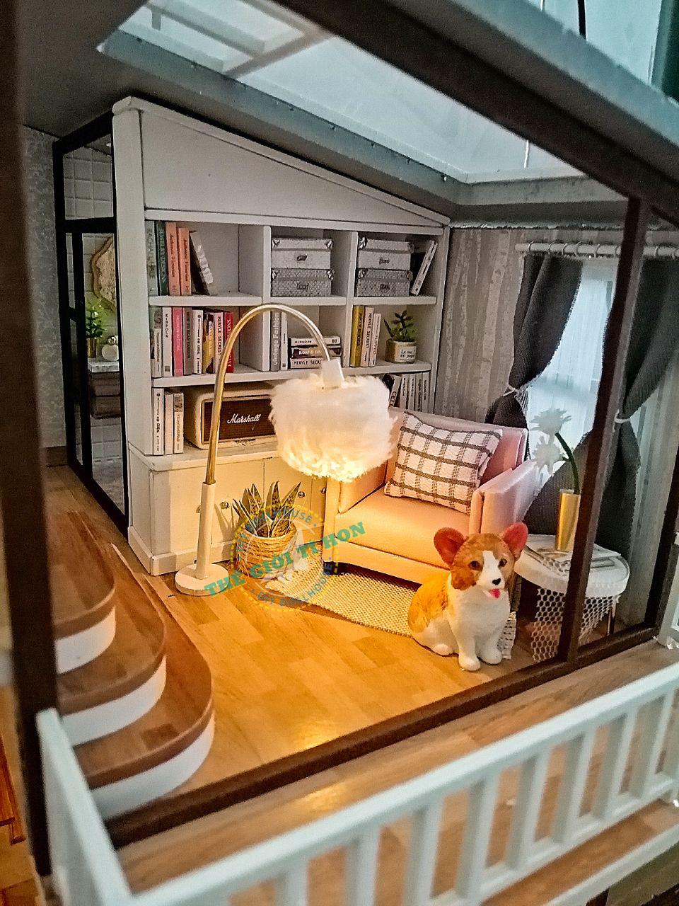 Kiệt Tác Biệt Thự Mô Hình Gỗ Handmade Tự Lắp Ráp Của Bội - A080