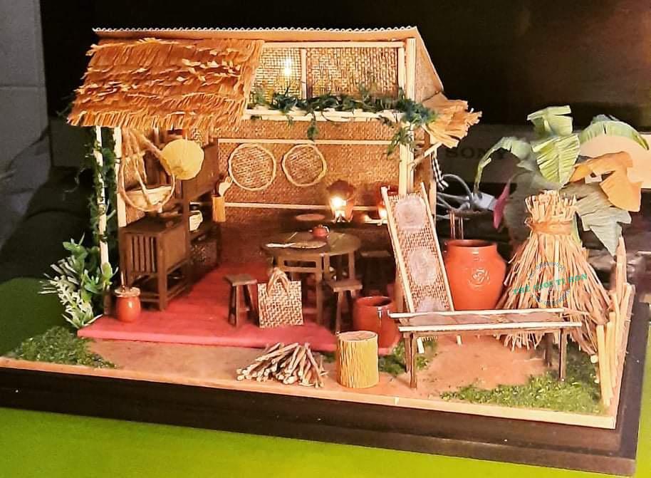 Mô Hình Thành Phẩm Bếp Quê Miền Tây Xưa Handmade Của Hương Đỗ - MT01