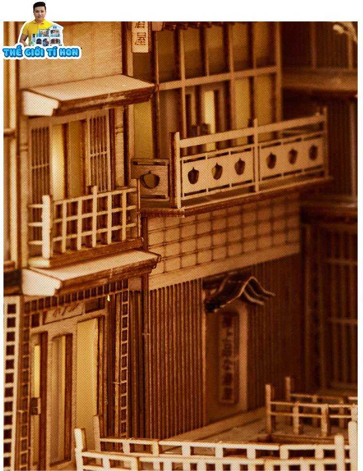 đồ chơi sáng tạo mô hình gỗ diy tự lắp ghép dùng để chặn sách - Spirited Away - BN009 (1)