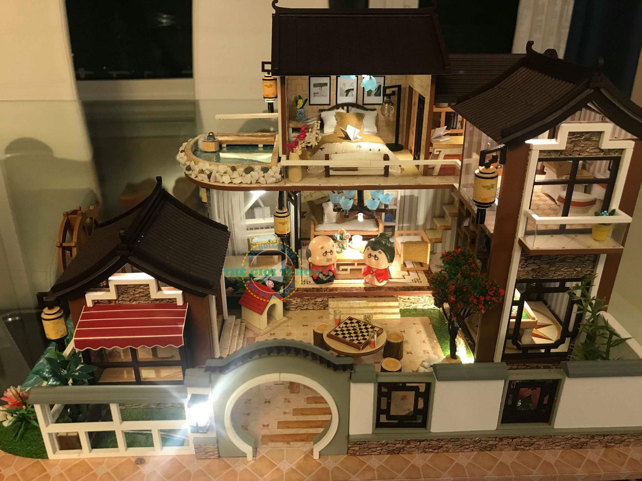 Biệt Thự Gỗ Nhỏ Xinh Handmade Của Chị Trân