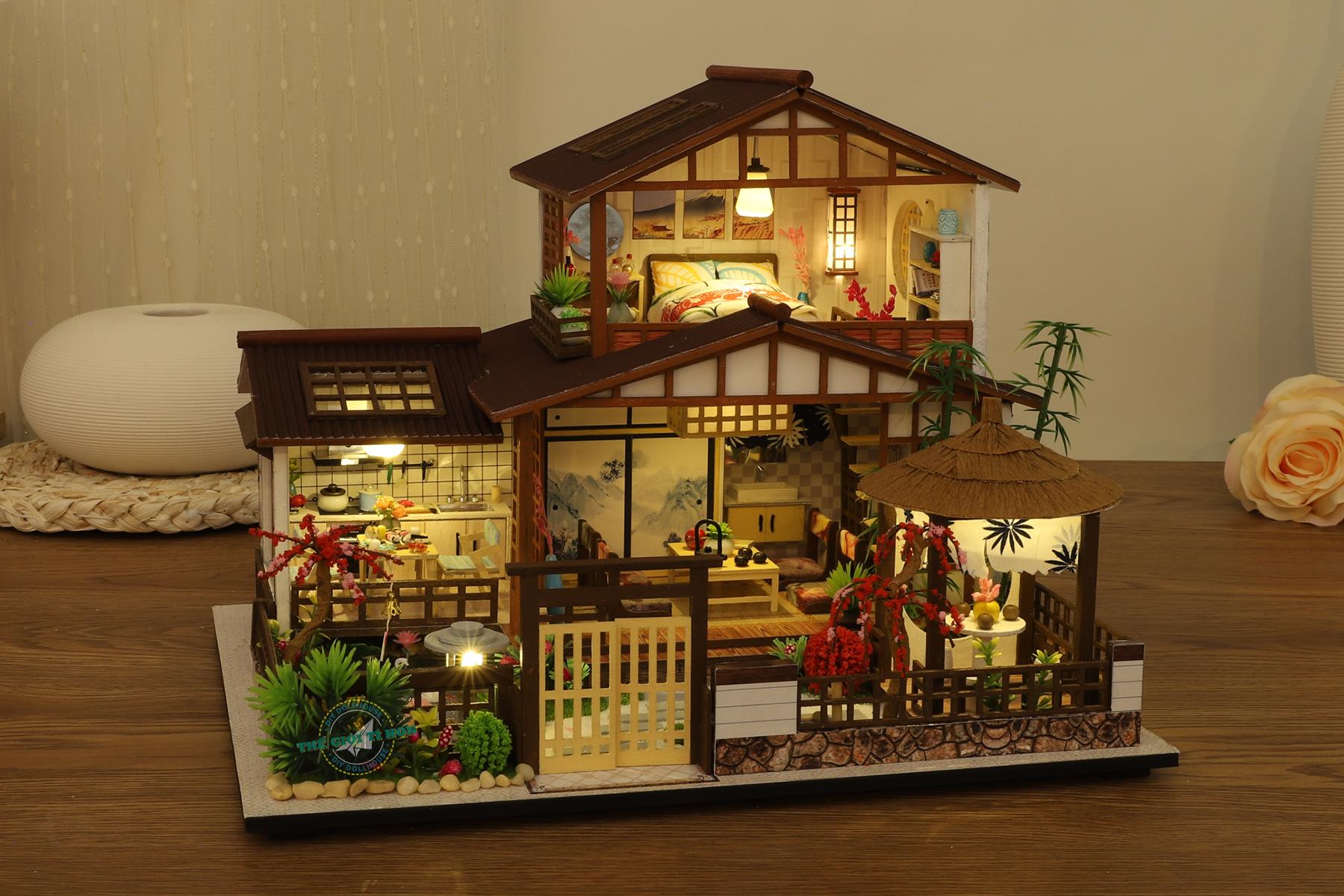 đồ chơi biệt thự nhà gỗ diy cổ trang nhật bản tự lắp ghép - P007 (2)