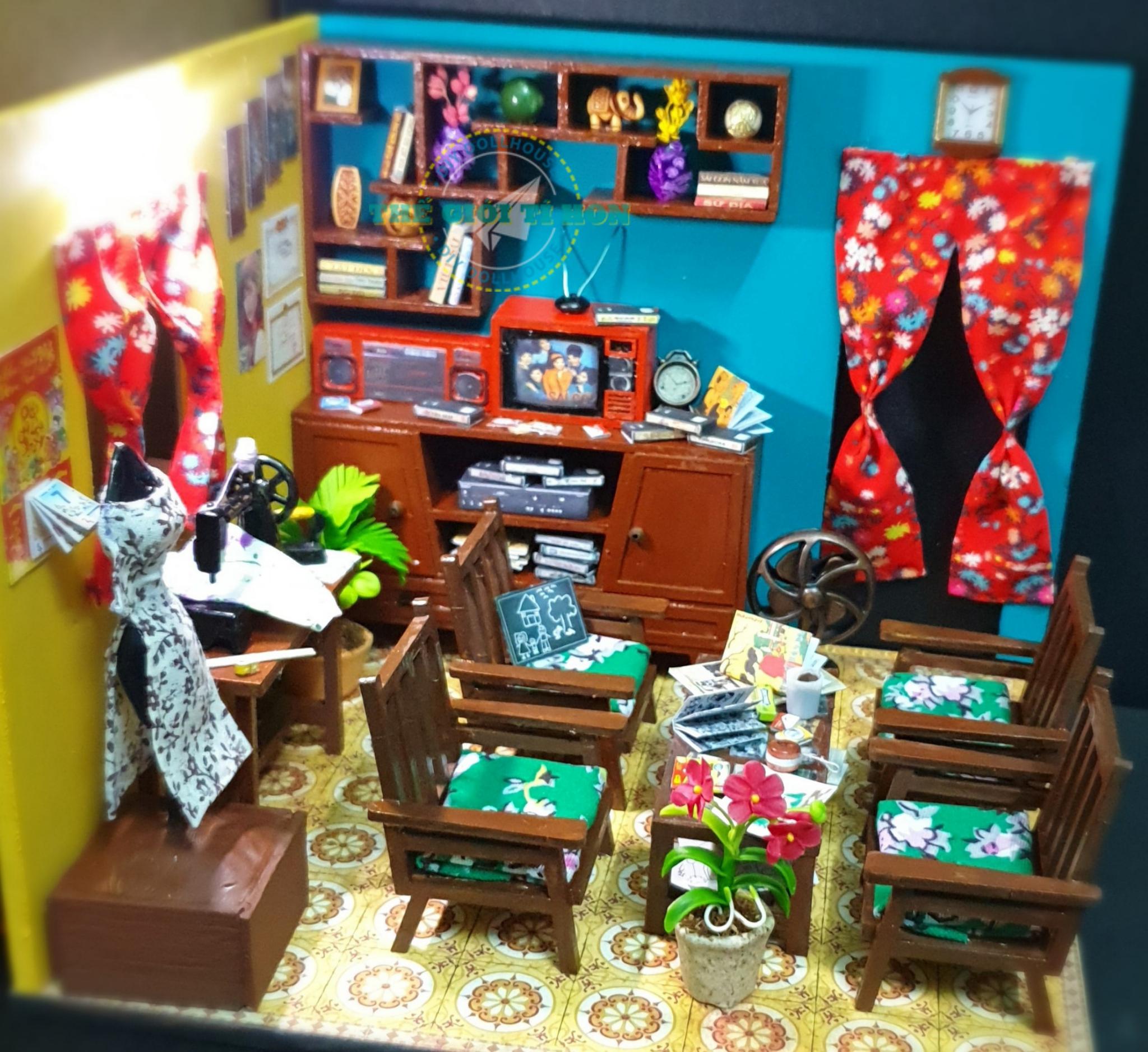 Đồ Chơi Mô Hình Nhà Sài Gòn Xưa Của Trần Ngân
